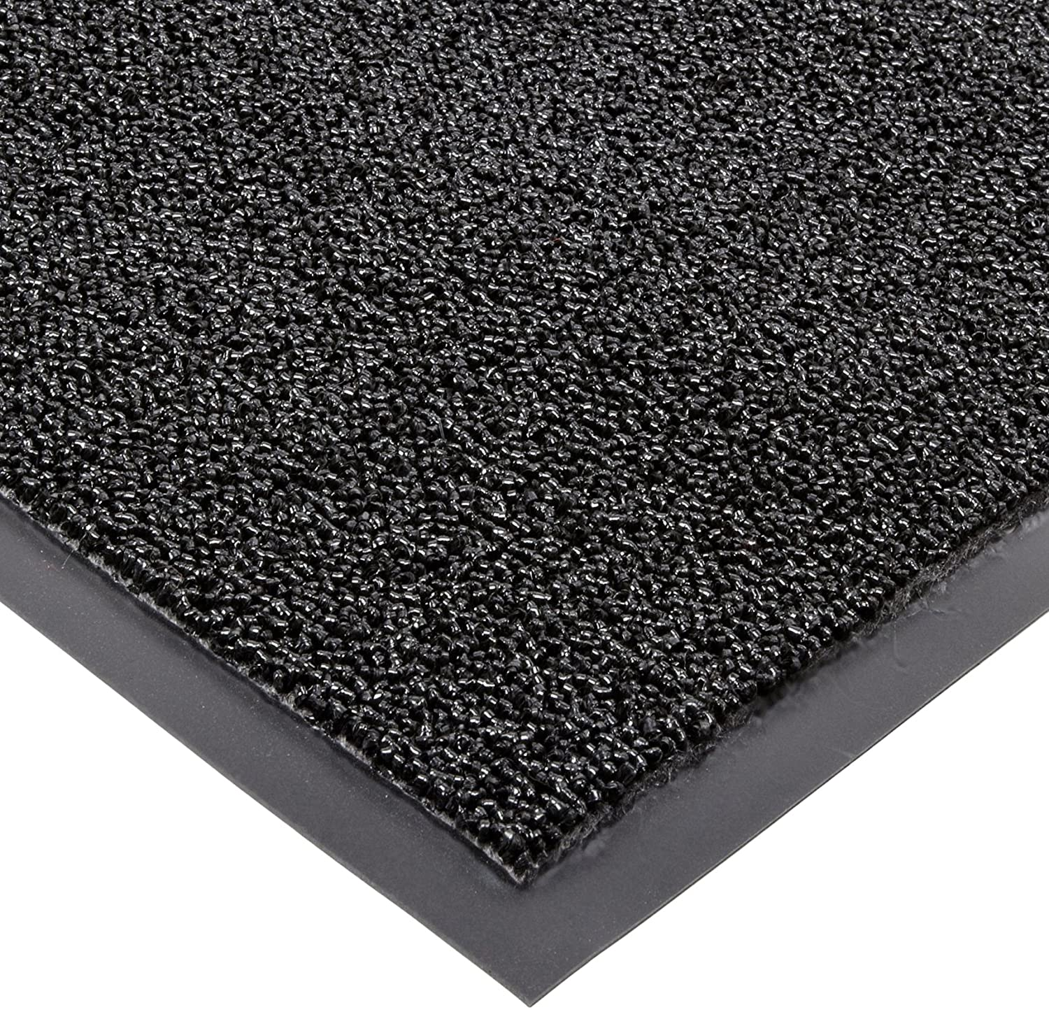 Notrax 146 Encore Entrance Mat, for Inside Foyer Area, 4' Width x 6' Length x 5/16 Thickness, Black Superior Manufacturing 146S0046BL