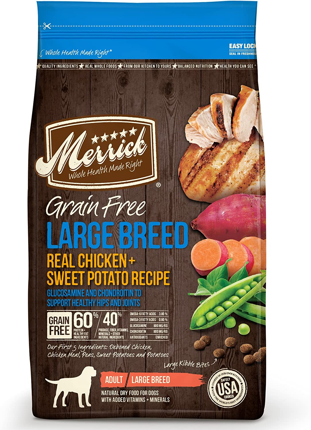 Merrick Large Breed Grain Free with Real Meat + Sweet Potato Dry Dog Food