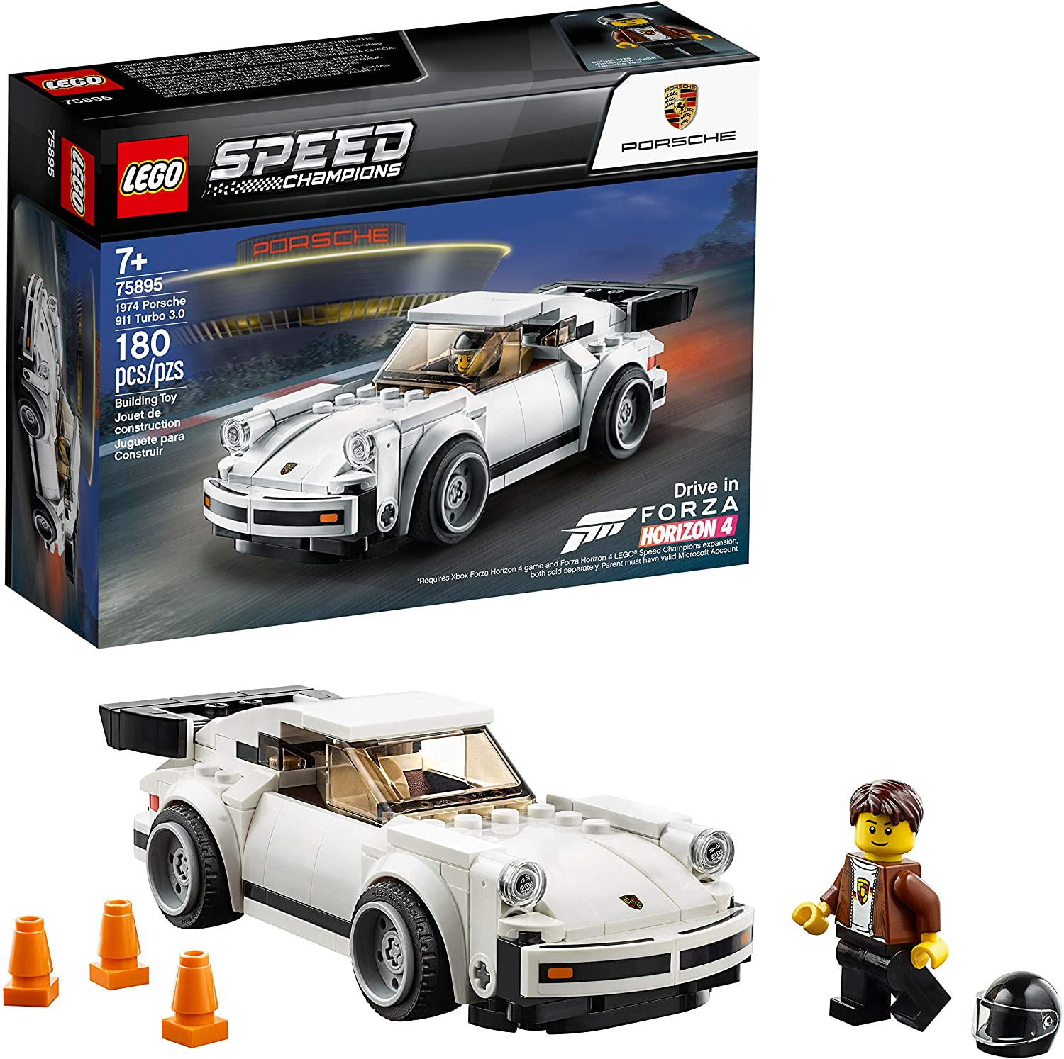 Ages 7+ 75895 Lego Speed Champions NEW 1974 Porsche 911 Turbo 3.0