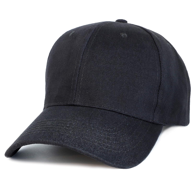 2169fdf80c9e03 Amazon.com: Juvale Plain Baseball Caps - Set of 24 Blank Cotton Dad Hats,  Adjustable 7 to 7 7/8 Inches, Black: Clothing