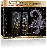 Scorpio Coffret 2 Produits Noir Absolu Eau de Toilette Flacon 75 ml/Dédodorant Atomiseur 150 ml