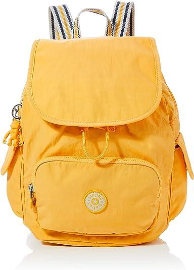 KiplingCity Pack SMujerMochilasAmarillo (Vivid Yellow)27x33.5x19 Centimeters (B x H x T): Amazon.es: Zapatos y complementos
