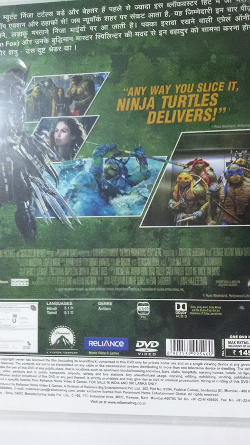 Teenage Mutant Ninja Turtles (Hindi): Amazon.es: Cine y ...