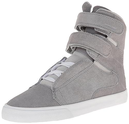 Supra WOMENS SOCIETY II - zapatillas deportivas altas de cuero mujer, color Plata, talla 40: Amazon.es: Zapatos y complementos