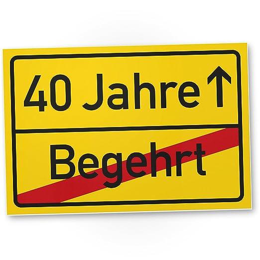 DankeDir!. 40 años (ajeno) plástico ortssschild - Letrero ...