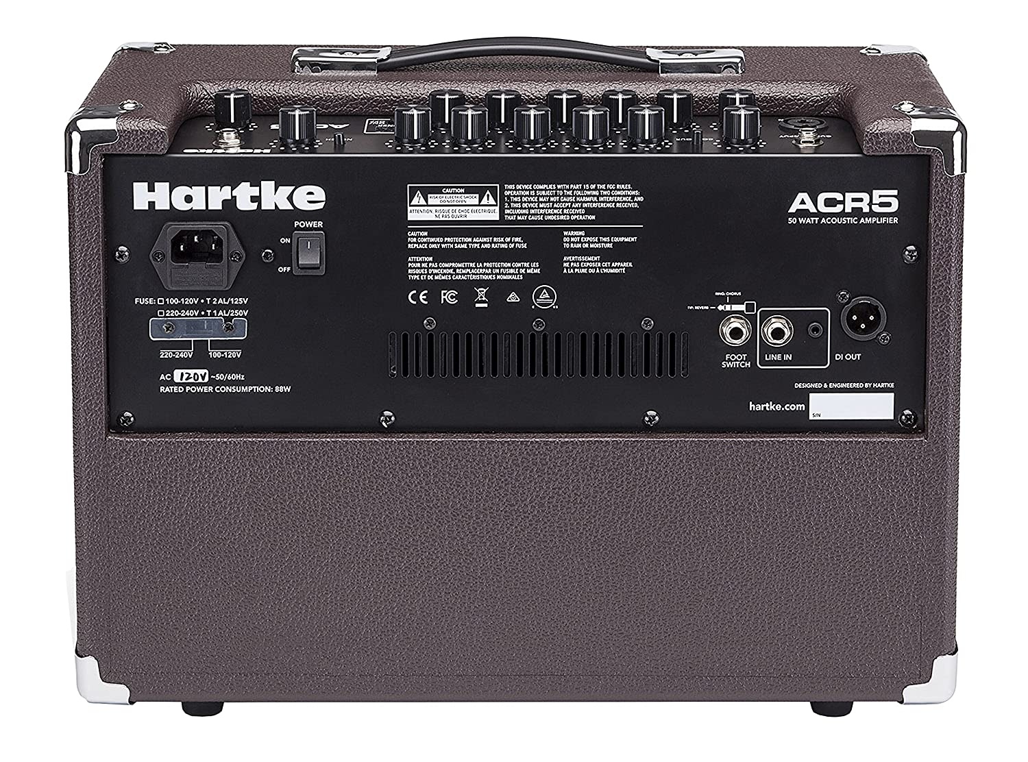 Amazon.com: Hartke ACR5 Acoustic Guitar Amplifier with Chorus and Reverb, 50 Watts: Musical Instruments