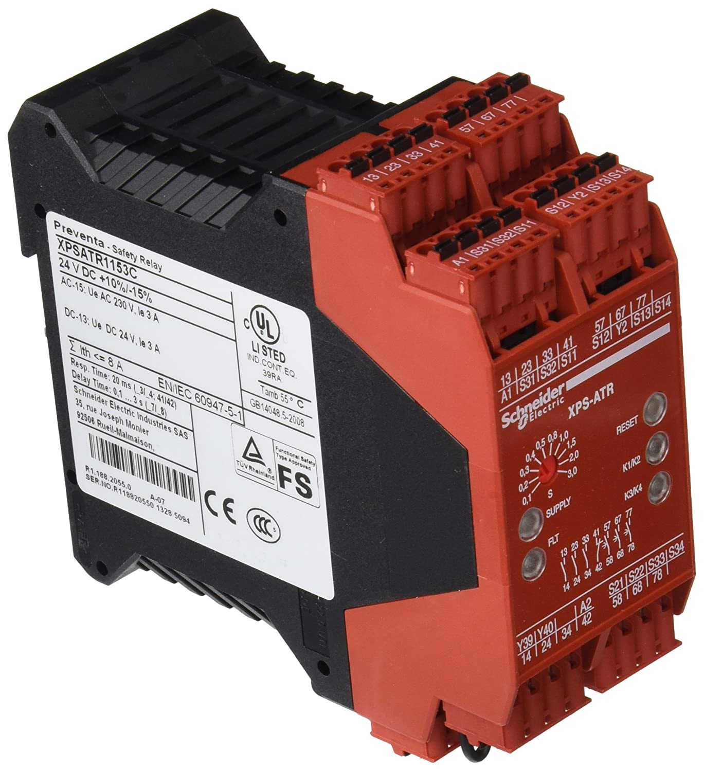 Safety Relay 6pst No 24 Vdc 3 A Xpsatr Series Din Rail Spring Circuit Electronic Industries Clamp Industrial Scientific