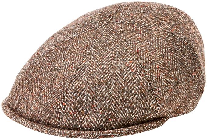 8b7934e3 Bailey of Hollywood Purdy Flat Cap, Brown (Cognac/Grey), Small (