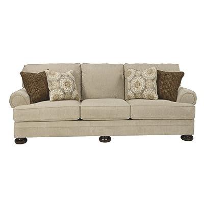 Benchcraft - Quarry Hill Traditional Upholstered Sofa - Quartz