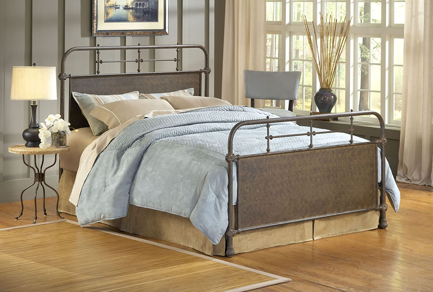 Amazon.com: Hillsdale Furniture 1502BQR Kensington Bed Set With Rails,  Queen, Old Rust: Kitchen U0026 Dining