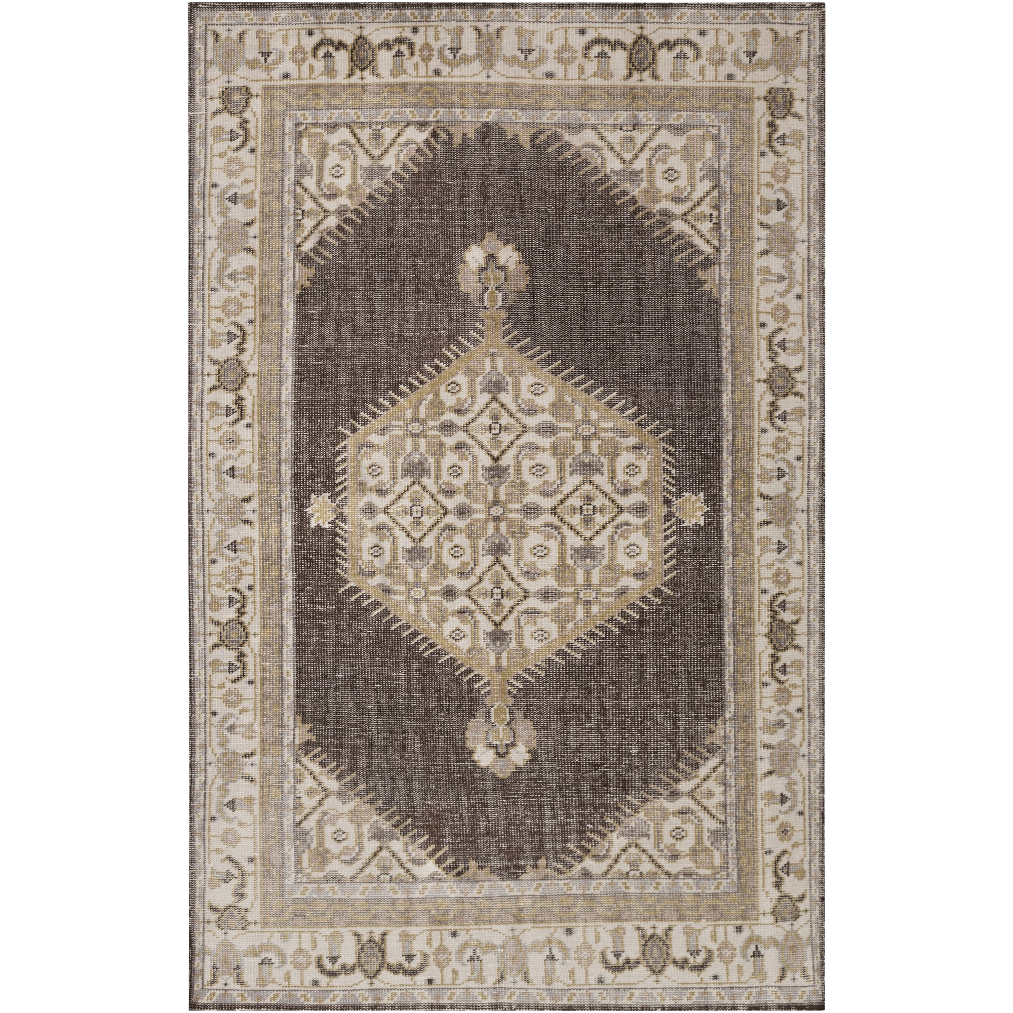 Surya Zahra ZHA-4011 Hand Knotted Classic Accent Rug, 3.6 by 5.6-Feet