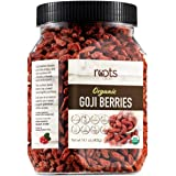 Roots Circle USDA Organic Dried Goji Berries | Bulk Supply of Goji Berry Fruit Superfood | Naturally Rich in Antioxidants to