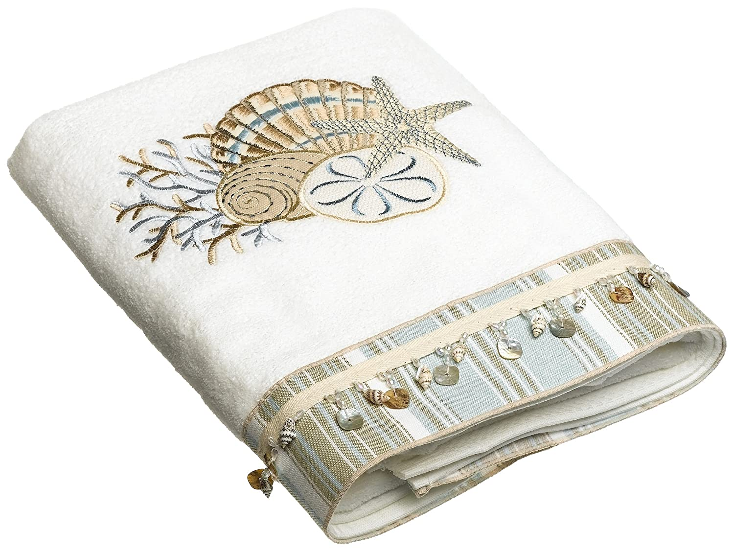 Avanti Linens By The Sea Bath Towel, White 10971WHT