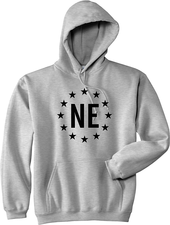 Kings Of NY NE Nebraska Stars Circle American Flag Style Mens Pullover Hoodie Hoody