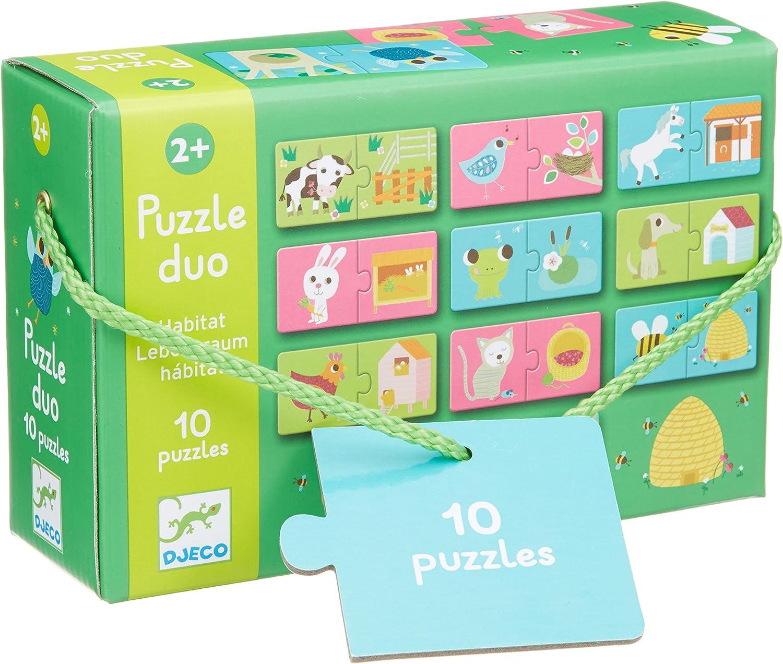 Multicolour Djeco DJ08151 Puzzle Duo Numbers