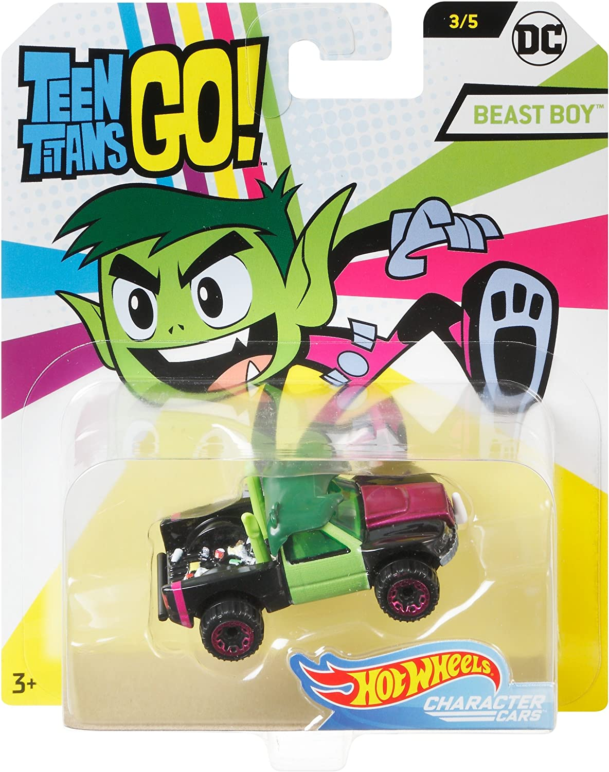 Hot Wheels Teen Titans Go Beast Boy Vehicle, 1:64 Scale: Amazon.es: Juguetes y juegos