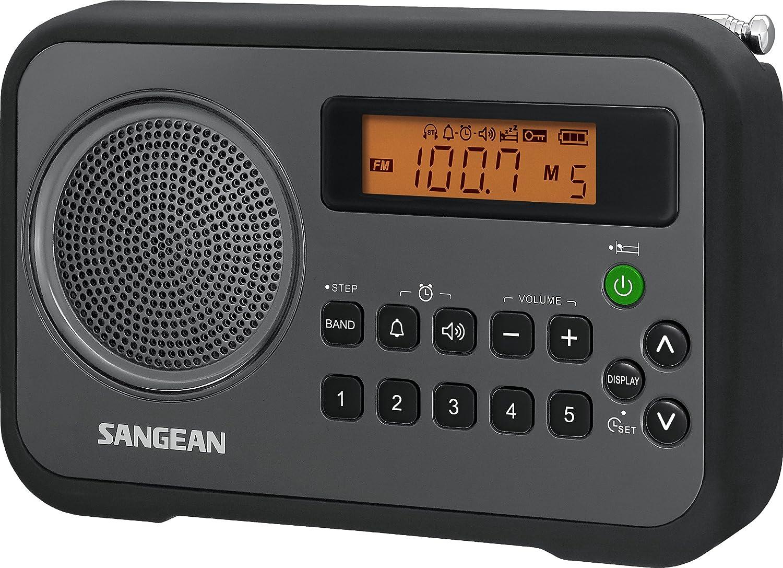 Amazon Com Sangean Pr D18bk Am Fm Clock Portable Digital Radio With