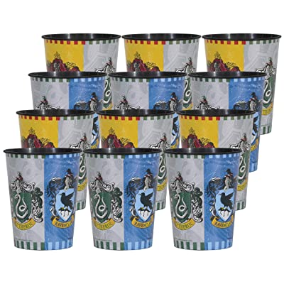 Harry Potter Birthday Party Supplies Set of 12 16oz Plastic Reusable Favor Cups: Toys & Games
