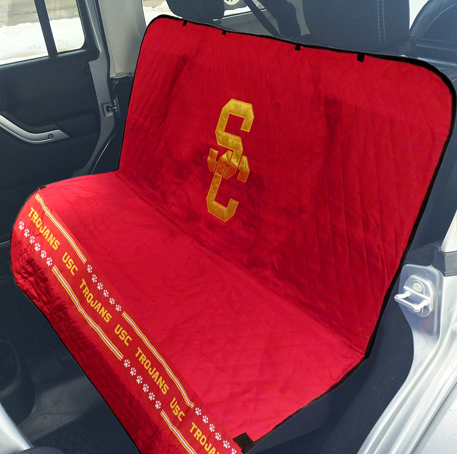 Pets First NCAA Collegiate PET Car Seat Cover - Available in 12 Teams Usc Trojans
