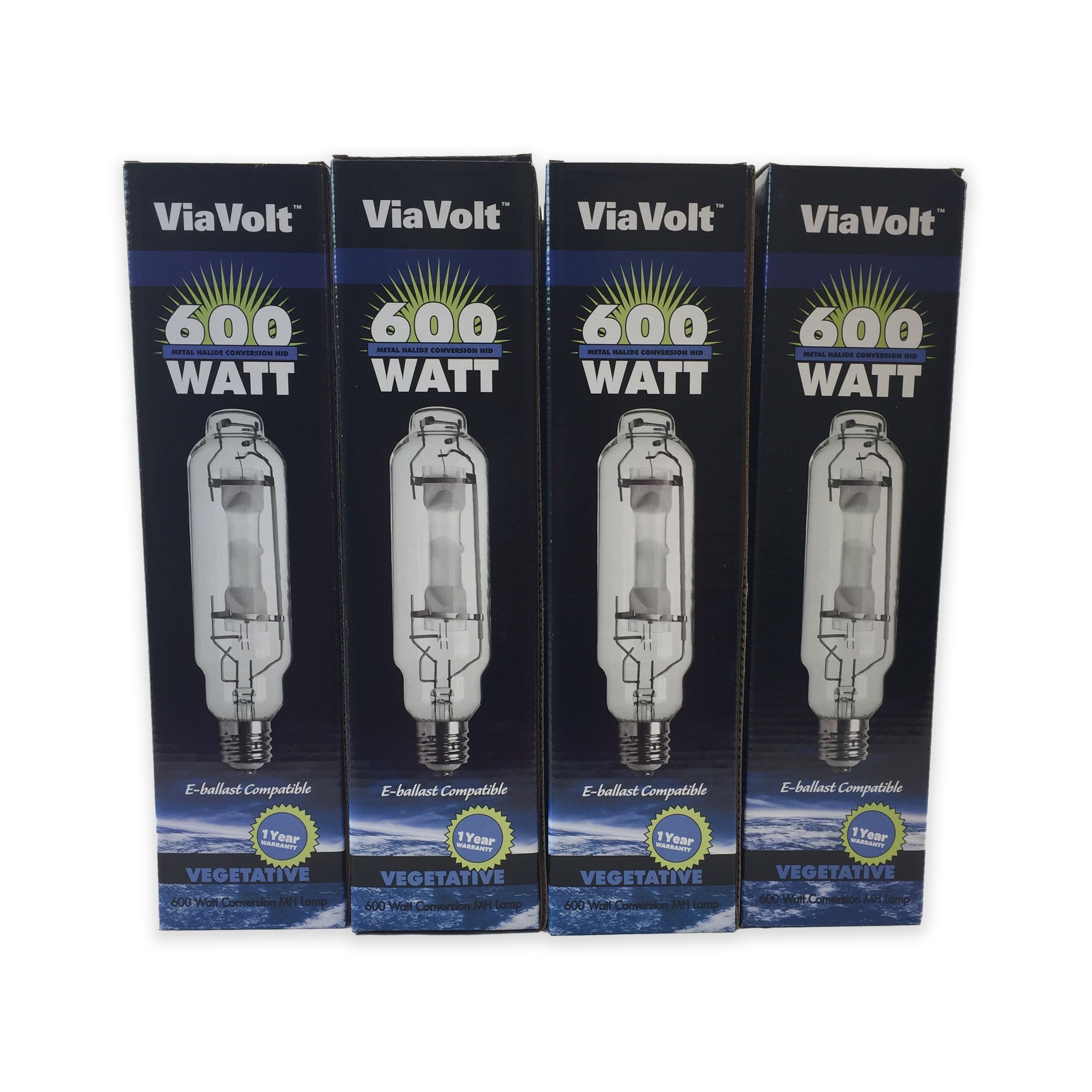 ViaVolt 600W Metal Hydride Replacement HID Grow Bulb (12 Pack)