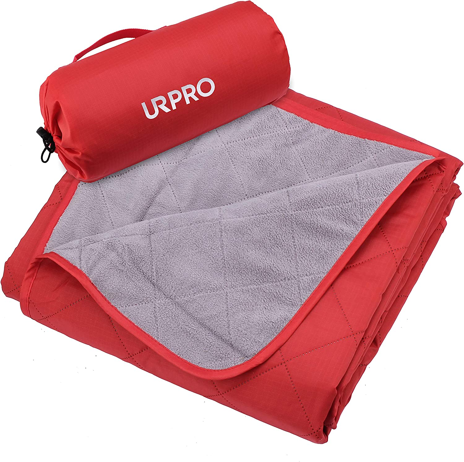 URPRO Waterproof Warm Fleece Outdoor Blanket Extra Large Lightweight Portable with Carry Bag for Stadium, Picnic, Camping, Beach, Dogs, Sofa