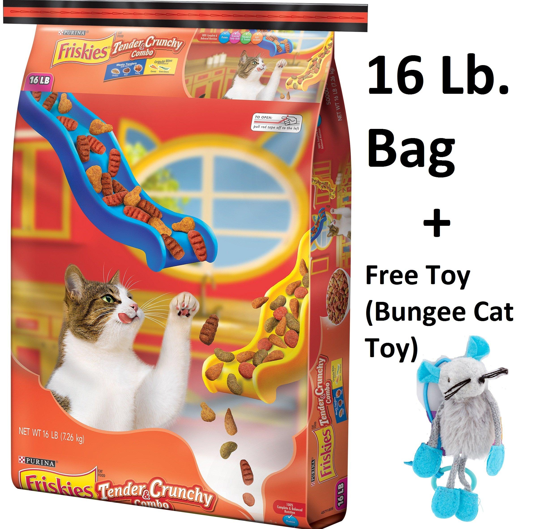 Purina Friskies Tender & Crunchy Combo Cat Food 16 lb. (4 Packs + Free Toy)