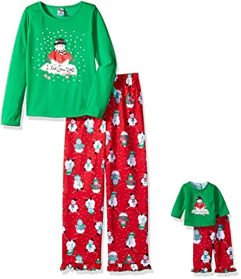 743aa3ed3 Amazon.com  Dollie   Me Girls  Holiday Sleepwear Set  Clothing