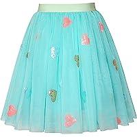Sunny Fashion Chicas Falda Azul Corazón Lentejuelas Espumoso Tutu Bailando 2-12 años