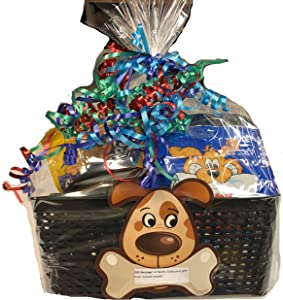 Dog Gift Basket Best Full Set Puppy Newborn Dog Gift with Bed, Carrier, Food and Toys Great Gift Delivered Fast! Best Basket