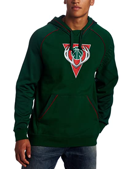 buy popular d5c7e ba597 Amazon.com : NBA Men's Milwaukee Bucks Hoops Pullover Hood ...