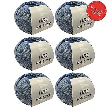 Sol Luxe Baumwolle Zum Stricken Bändchengarn Lang Yarns In