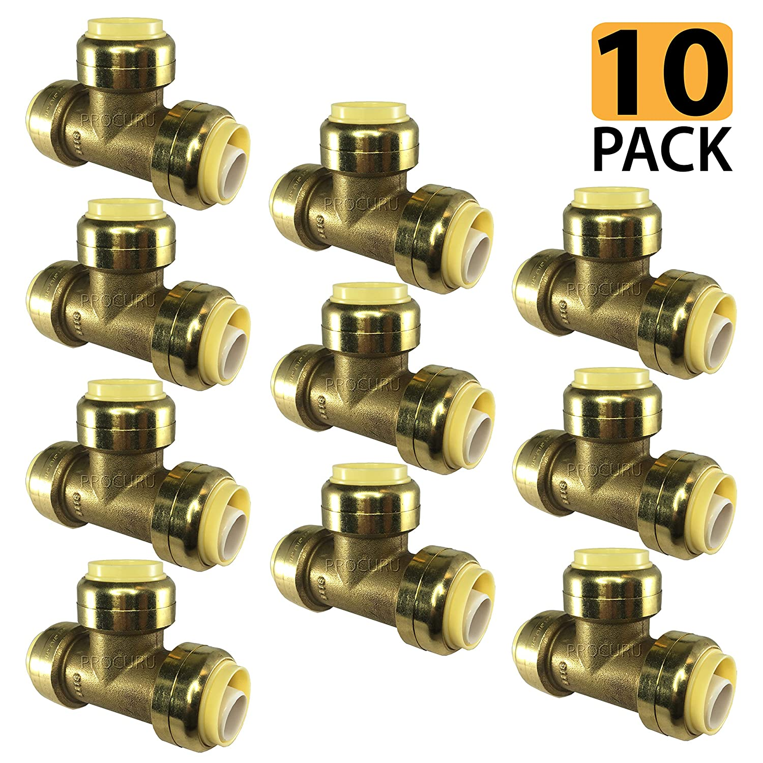 """PROCURU 1/2-Inch PushFit Tee 