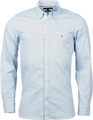 Tommy Hilfiger Slim Multi Geo Print Shirt Camisa, Azul, Large (Talla del Fabricante:) para Hombre: Amazon.es: Ropa y accesorios