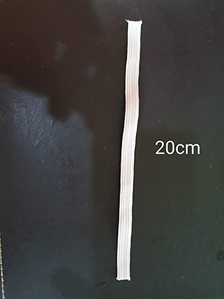 White, Sample 20cm Knitting Waistbands and Arts /& Craft 12mm 1//2 inch Elastic White Black Flat Woven Elastic Band for Sewing