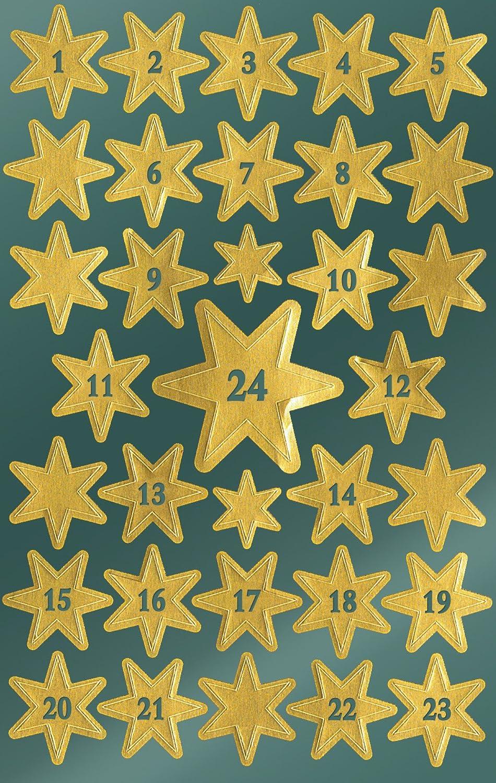 estrellas calendario de Adviento
