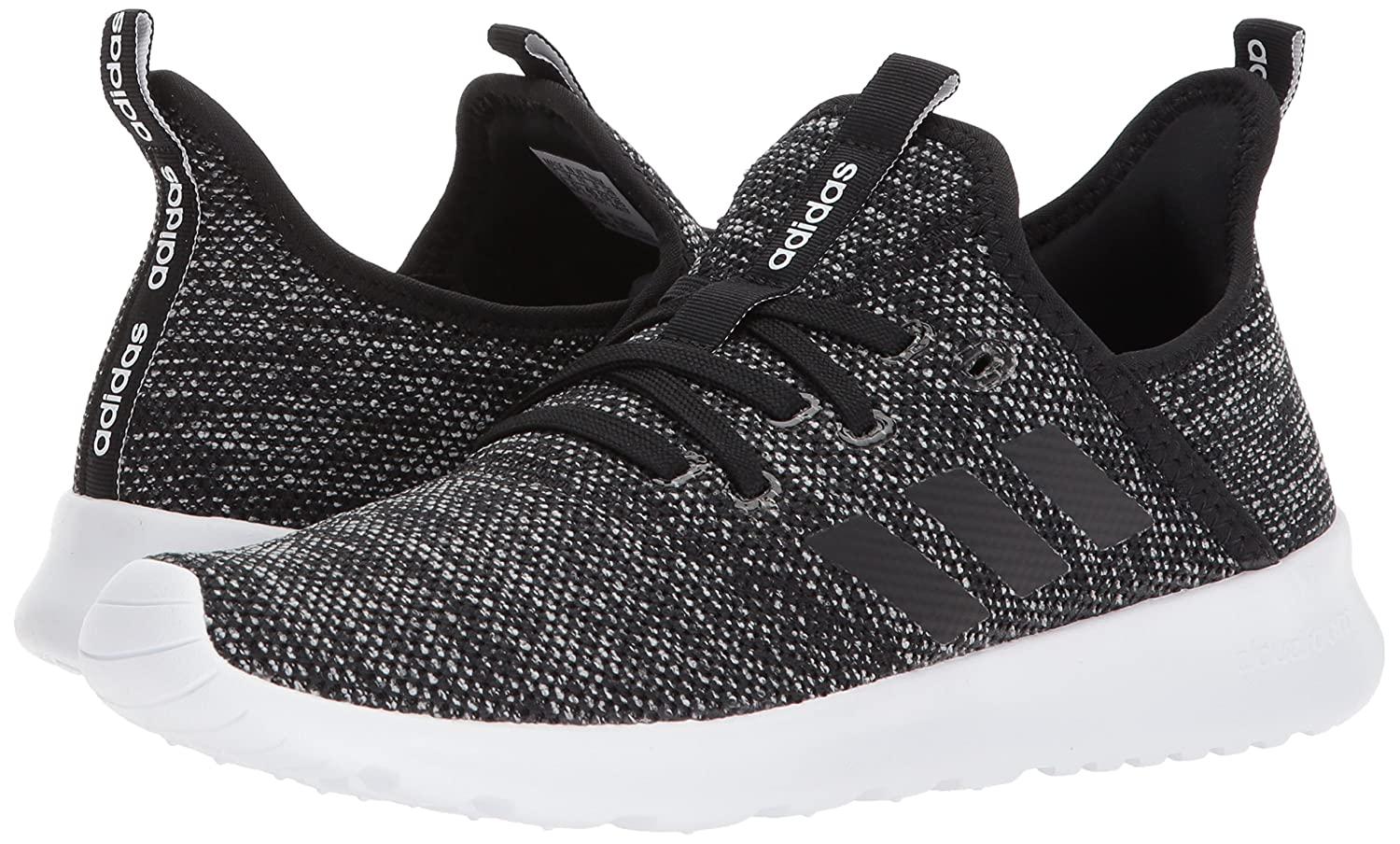 adidas Women's Cloudfoam Pure Running Shoe B072LN1L1X 8 B(M) US|Black/Black/White