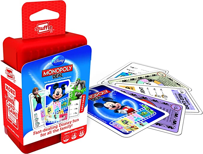 ToyMarket Shuffle Monopoly Deal Disney Card Game by: Amazon.es: Juguetes y juegos