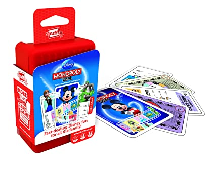 Shuffle Monopoly Deal Disney Card Game