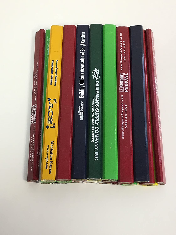 24 Lot Misprint Woodcase Carpenter Pencils, #2 Lead, Bulk Wholesale Lot