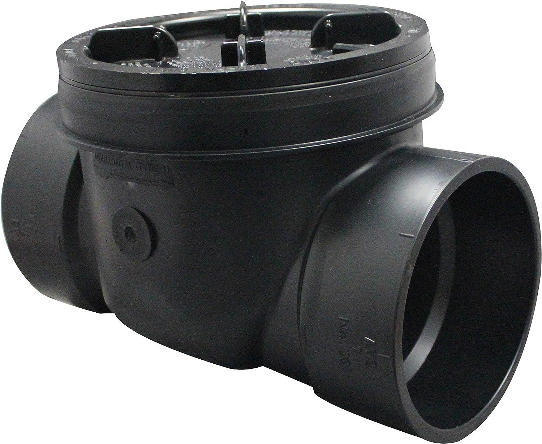 Canplas 223284W PVC Backwater Valve 4-Inch