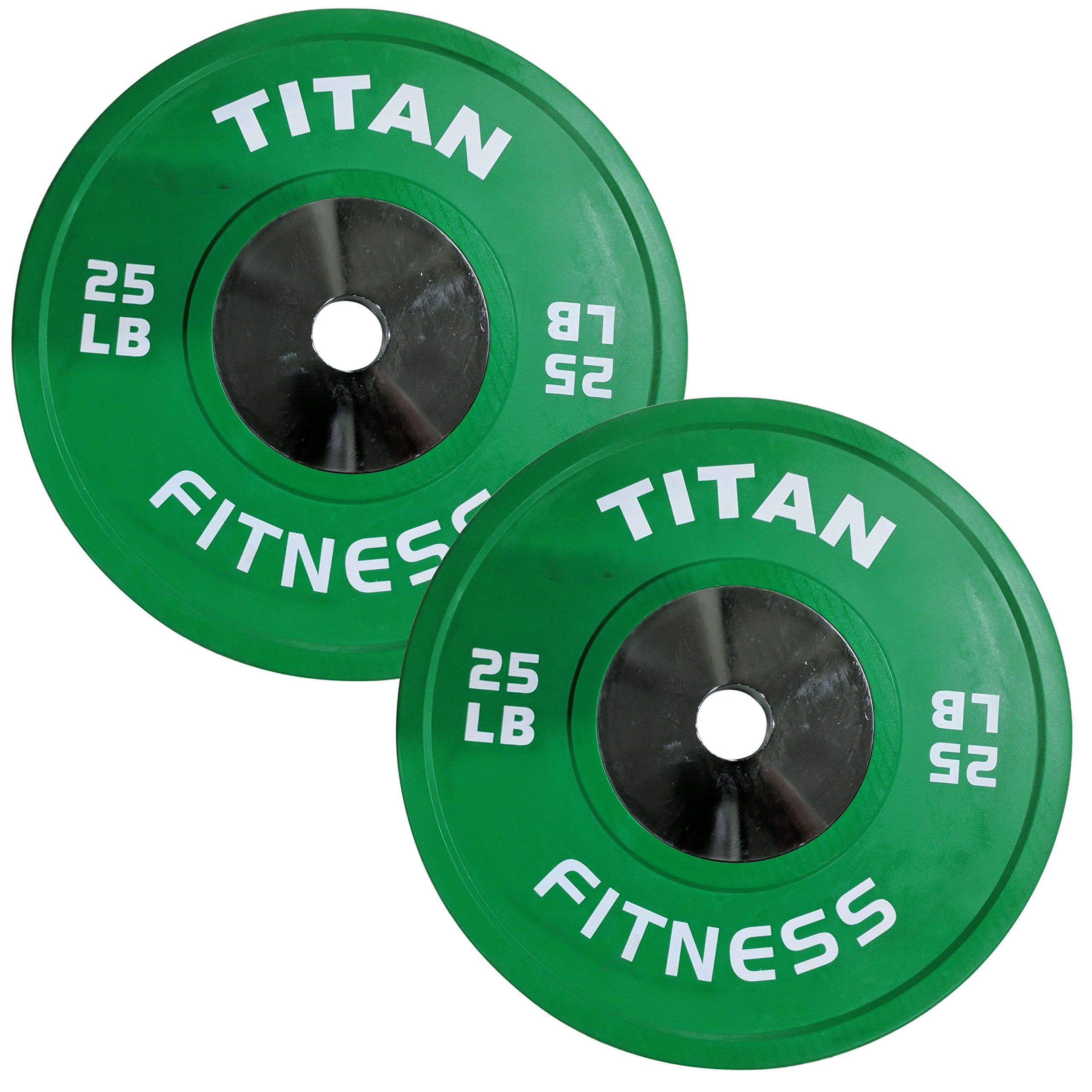 Pair of Titan Color Elite Olympic Bumper Plates - 25 LB