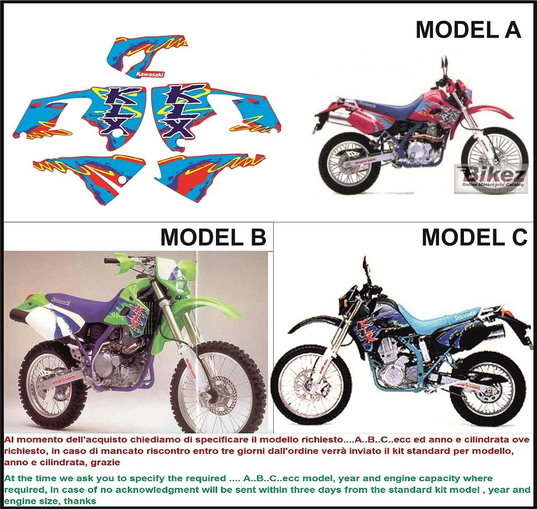 INDICARE IL MODELLO A o B Kit adesivi decal stikers KAWASAKI KLR 650 1987 1988