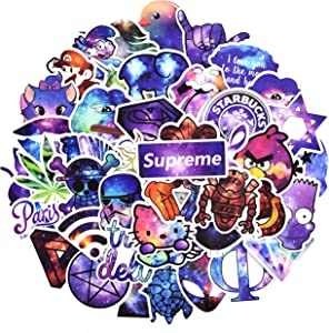 Galaxy Sticker for Personalize Laptop Water Bottle Car Helmet Luggage Bike Decals, Laptop Stickers for Girls, Best Gift for Kids,Girls,Adult- No-Duplicate Pack (Series G)
