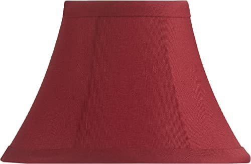 Upgradelights Red Silk Type 5 Inch Empire Chandelier Shades Set of 6 2.5x5x4
