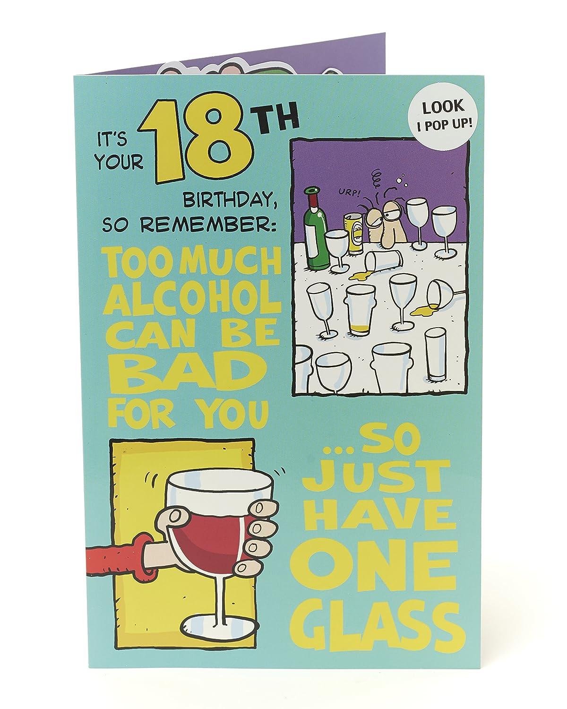 Divertida tarjeta de felicitación de 18 cumpleaños con texto ...