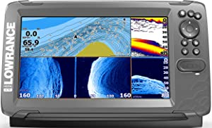 Lowrance HOOK2 9-inch Fish Finder with TripleShot/SplitShot Transducer and US Inland Lake Maps Installed