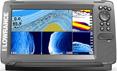 Lowrance Hook2 9- 9-inch Fish Finder with TripleShot Transducer and US Inland Lake Maps Installed