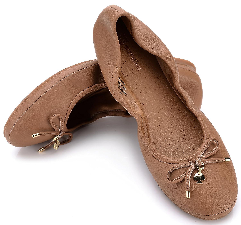Eureka USA Women's Universe Leather Ballet Flat B074V1245J 9 B(M) US|013 Sun Tan