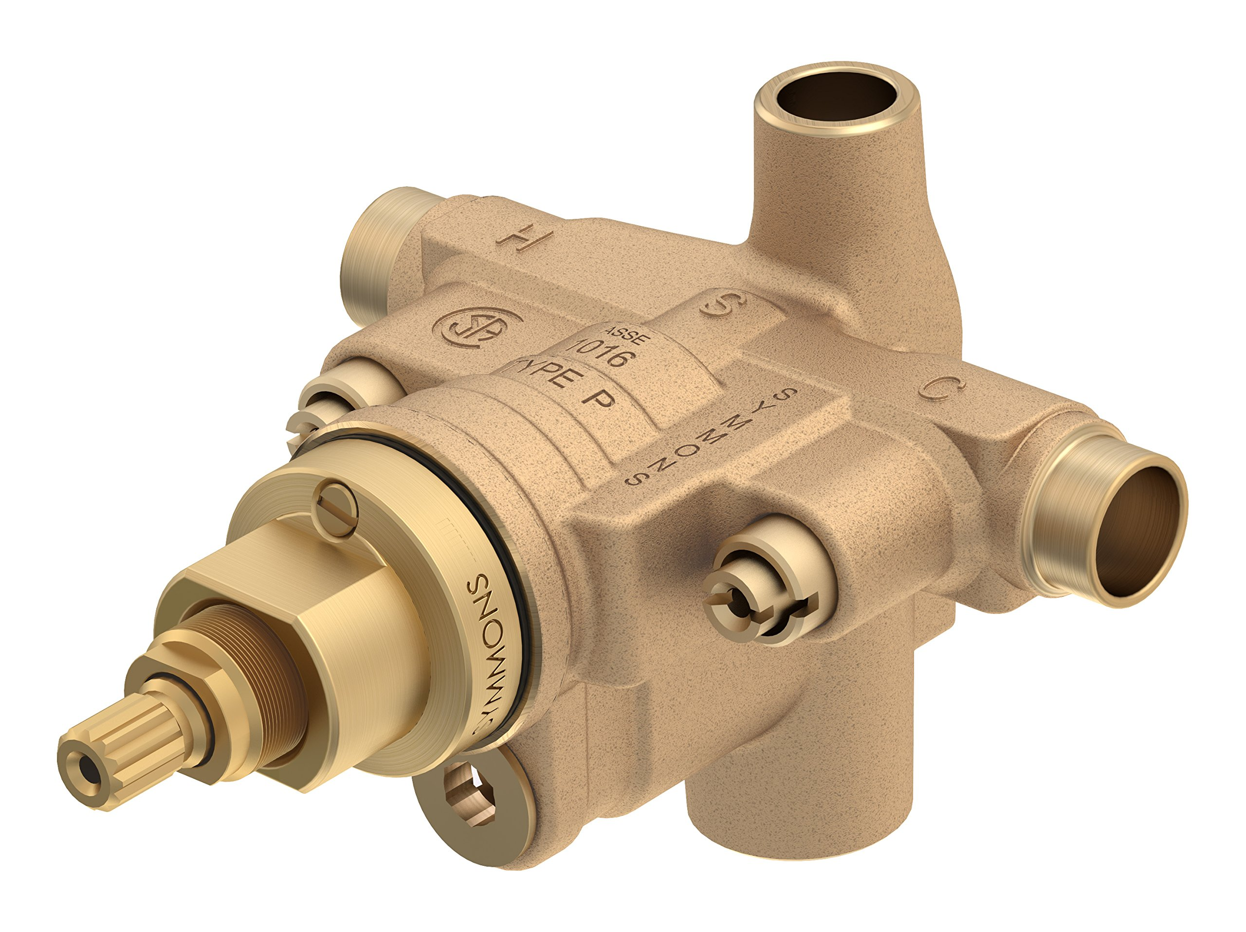 Symmons S-46-2X-BODY Temptrol Brass Pressure-Balancing Tub and Shower Valve with Service Stops and Integral Diverter by Symmons