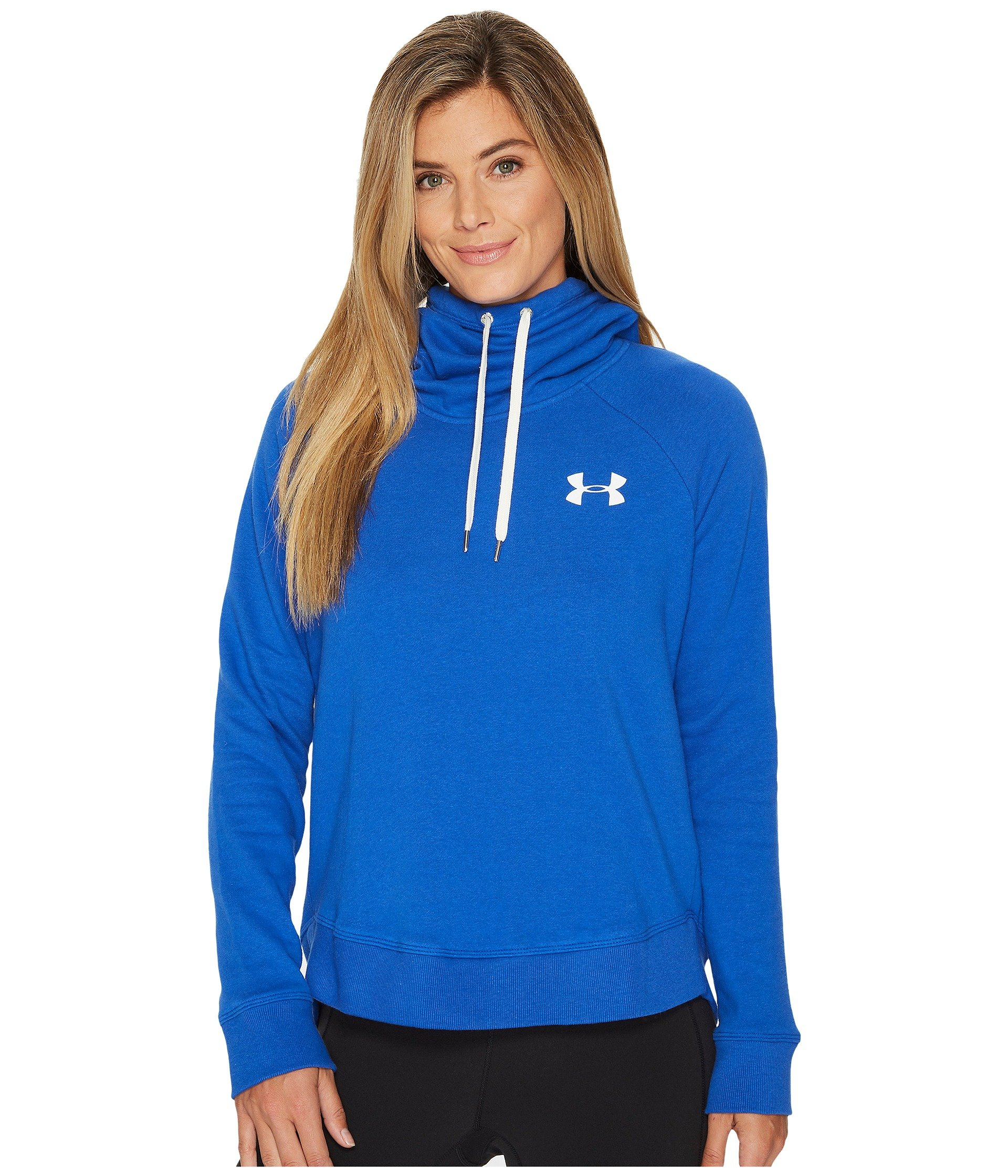 Under Armour Women's Novelty Favorite Pull Over Left Chest Jacket, Lapis Blue /White, X-Small